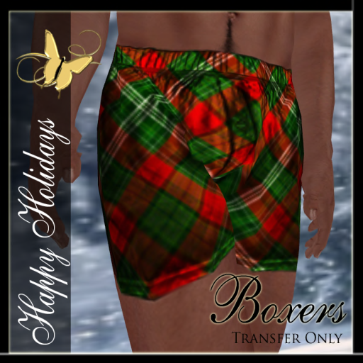 Boxers Holiday Ad Plaid